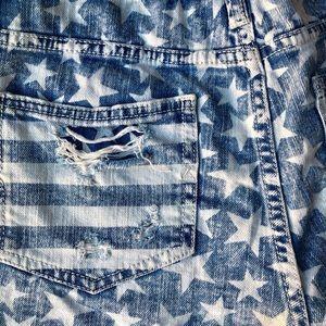 Mossimo Supply Co. Shorts - Distressed Denim Star Daisy Duke Shorts